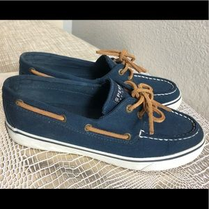 Sperry's/ Navy blue boat shoes